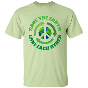 Save The Earth-Love Each Other. Environmental Awareness Tshirt