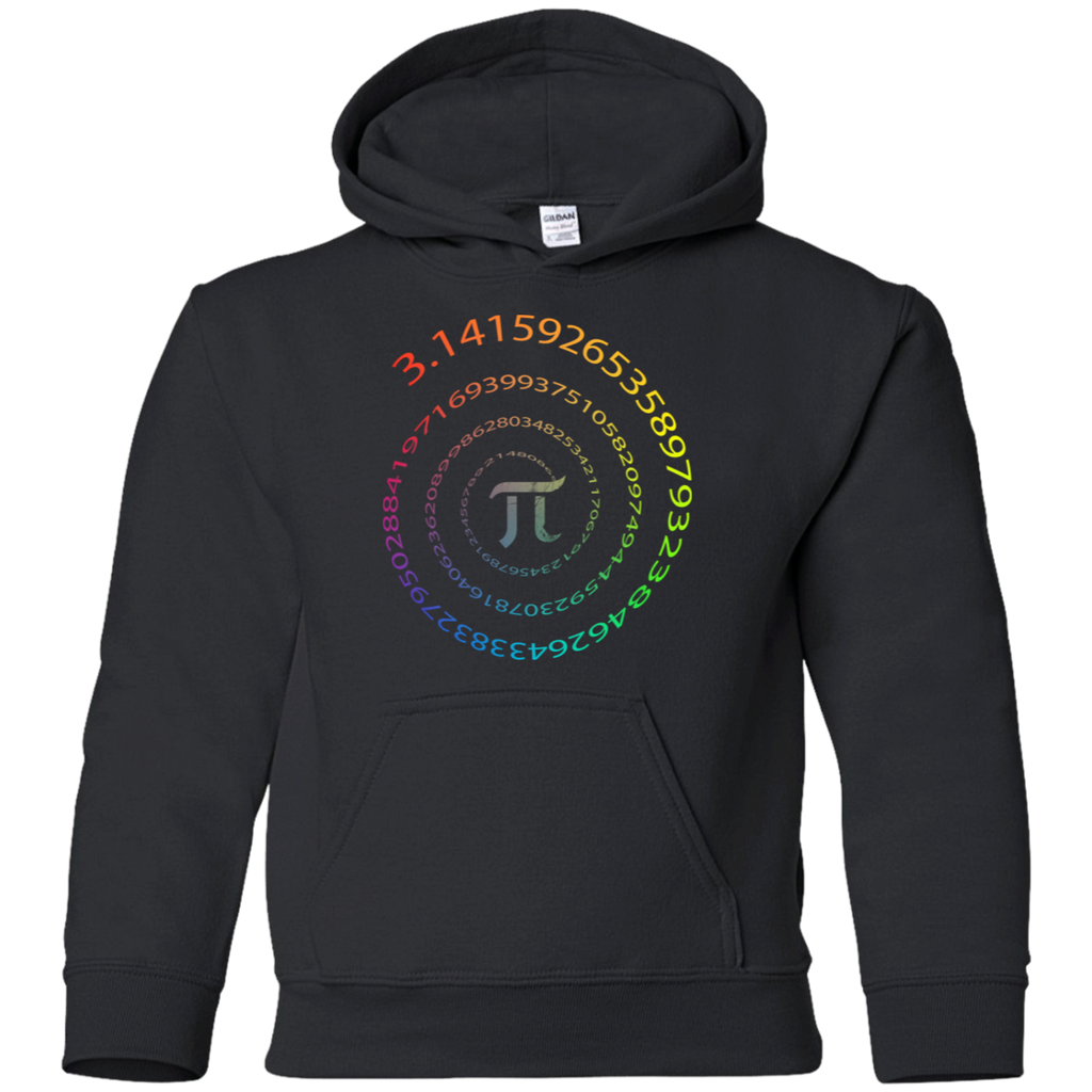 Pi Infinity Circle Graphic. Youth Math Hoodie