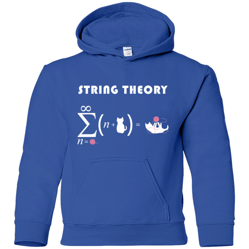 String Theory. Youth Math and Science Hoodie