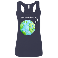 I'm With Her. Woman's Environmental Awareness Tank Top