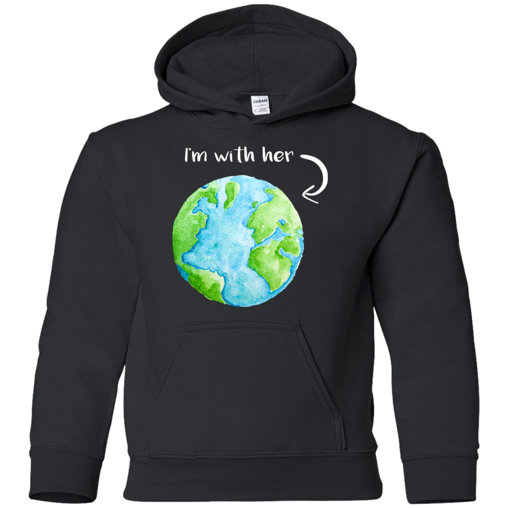 I'm With Her. Environmental Awareness Youth Hoodie