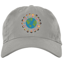 Load image into Gallery viewer, World Love Brushed Twill Unstructured Dad Cap