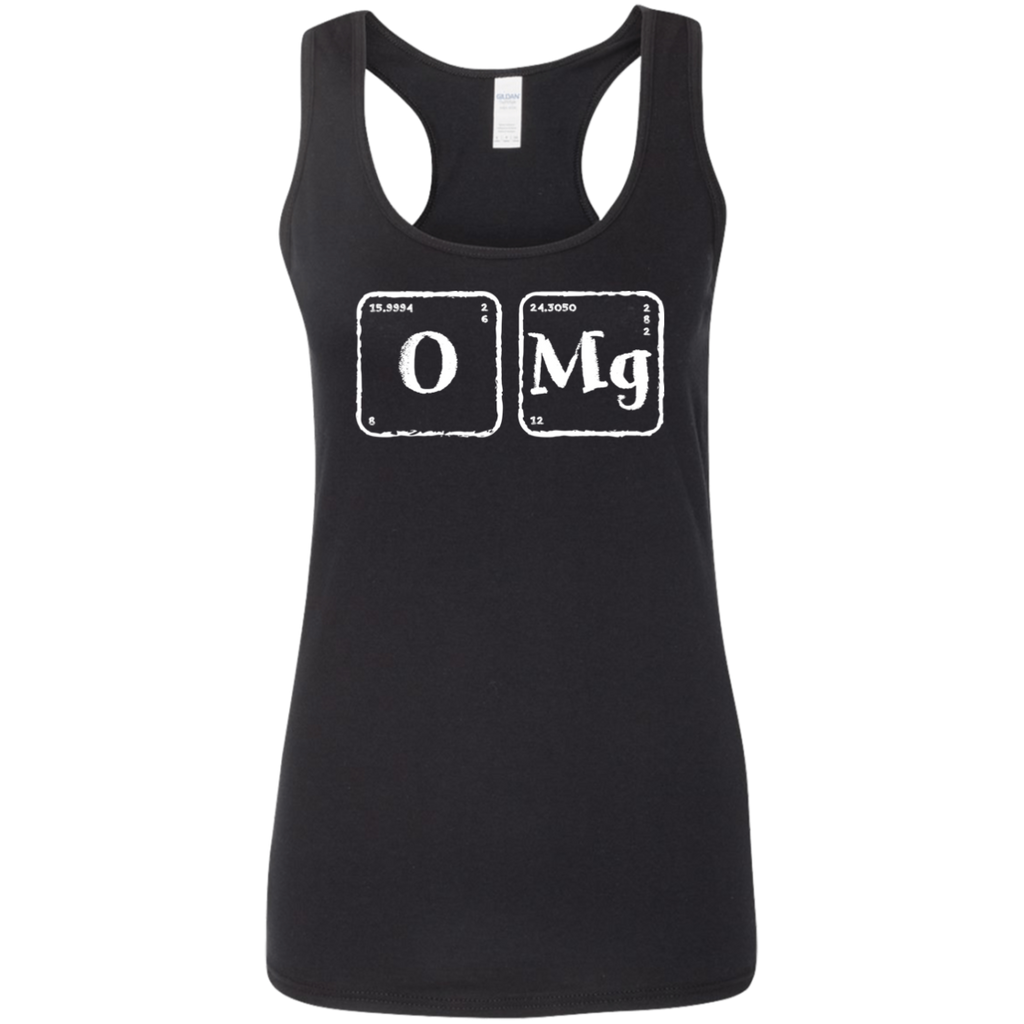 OMG. Periodic Table Exclamation. Woman's Science and Chemistry Tank Top