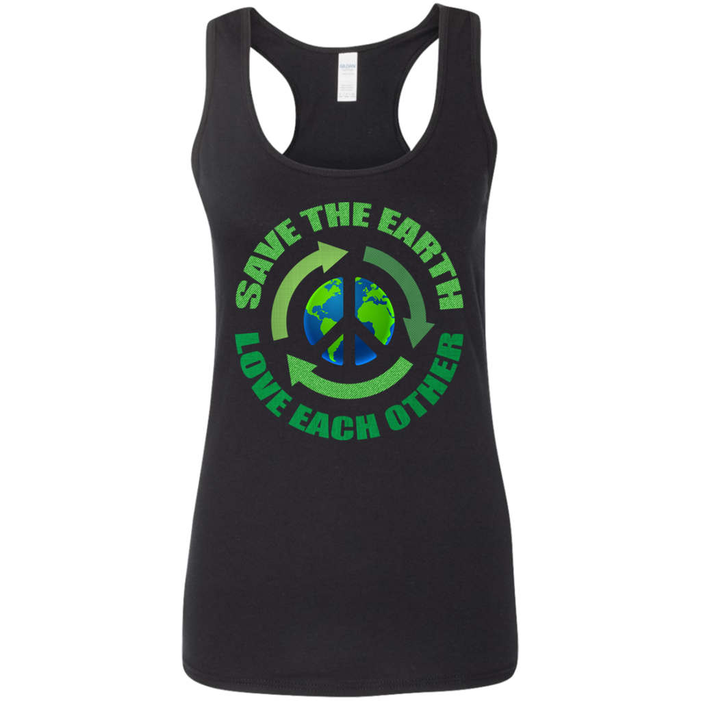 Save The Earth, Love Each Other. Woman's Environmental Awareness Tank Top