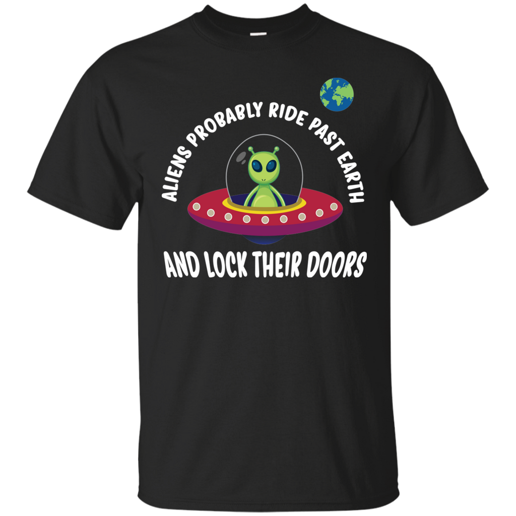 Aliens Probably Ride Past Earth And Lock Their Doors. Youth Science Tee