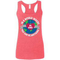 In A World Where You Can Be Anything, Be Kind. Woman's Environmental Awareness Tank Top
