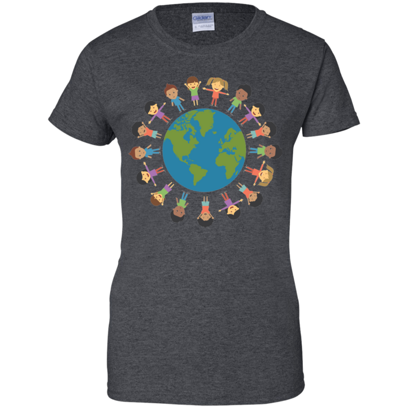 Spread World Love. Woman's Environmental Awareness Tee