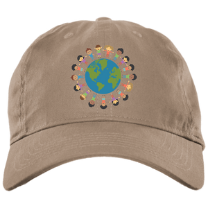 World Love Brushed Twill Unstructured Dad Cap