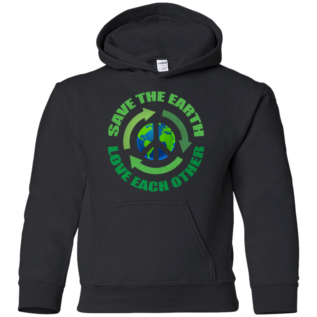Save The Earth, Love Each Other. Environmental Awareness Youth Hoodie