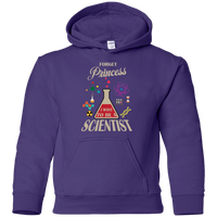 Forget Princess I Want To Be A Scientist. Unisex Youth Science Hoodie