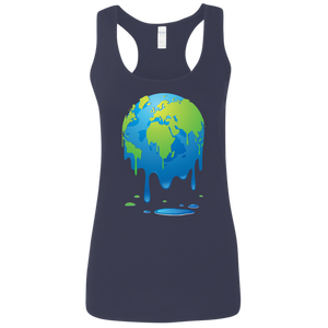 Global Warming. Melting Earth. Woman's Environmental and Science Tank Top