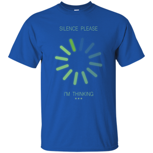 Silence Please. I Am Thinking. Graphic Math and Science T-Shirt