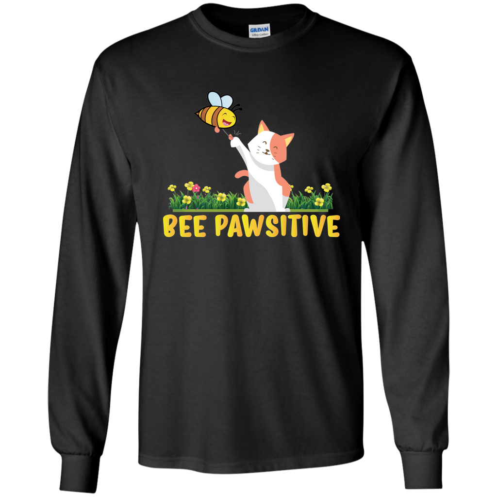 Bee Pawsitive. Environmental Awareness Long Sleeve T-Shirt