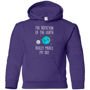 The Rotation Of The Earth, Really Makes My Day. Youth Science Hoodie
