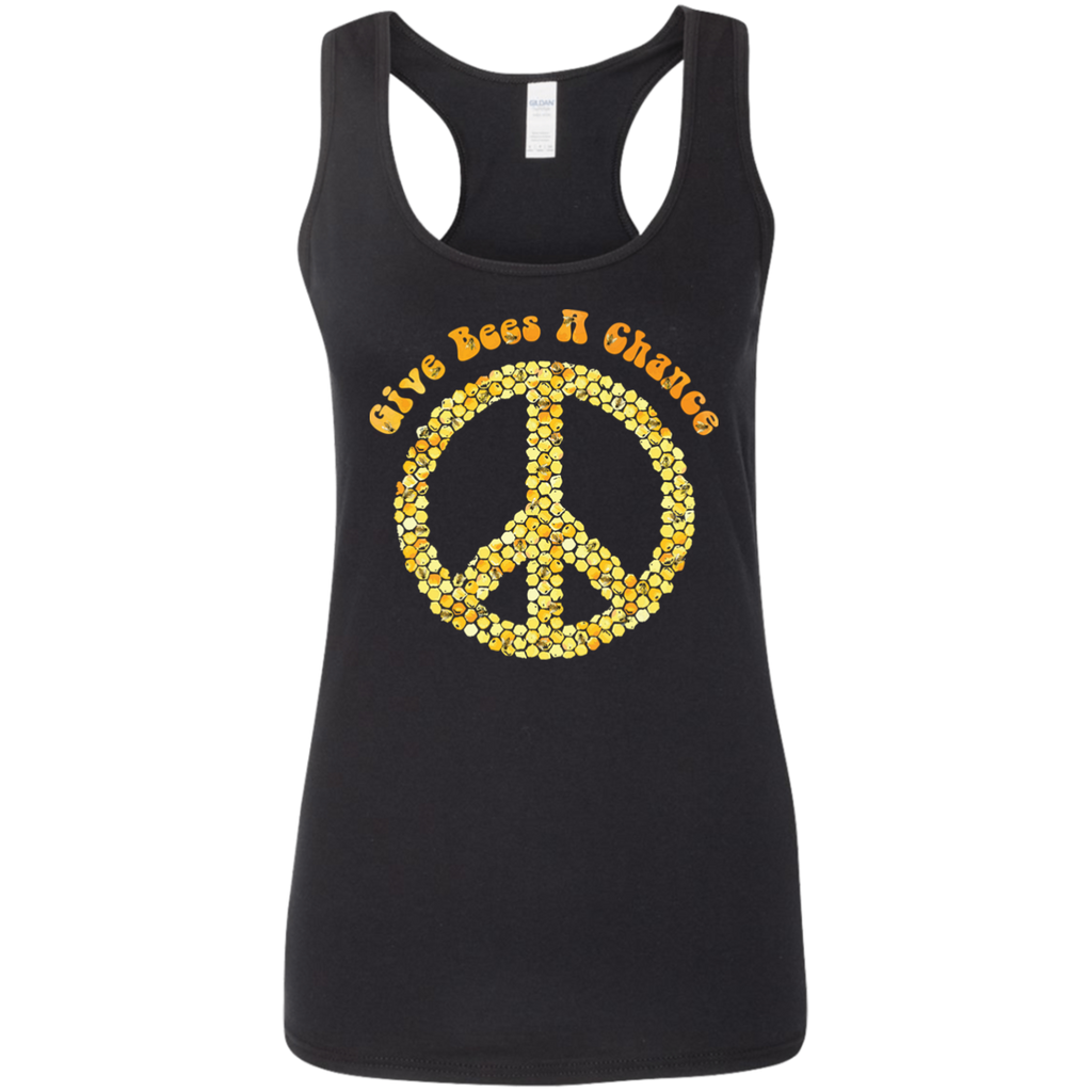Give Bees A Chance. Woman's Environmental Awareness Tank