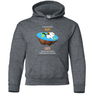 If The Earth Was Flat, Cats Would Have Pushed Everything Off It By Now. Youth Science Hoodie