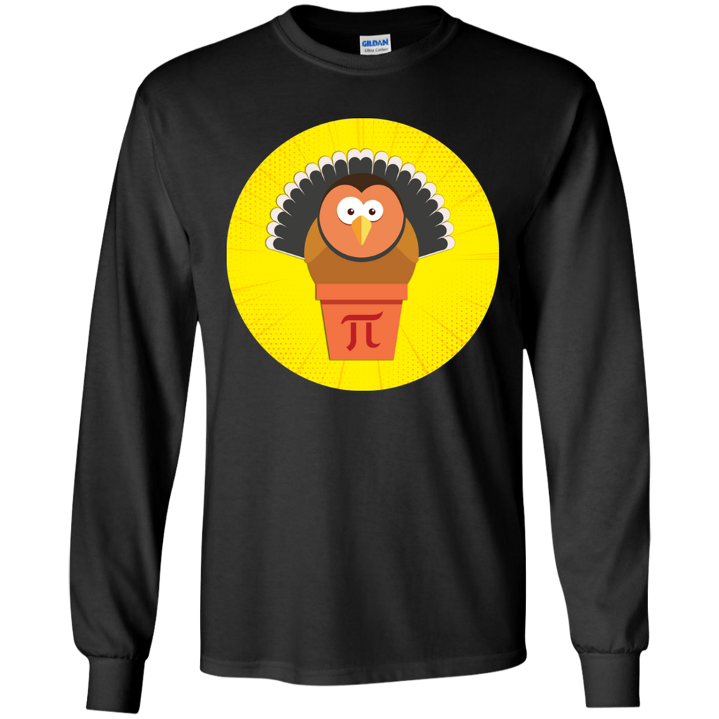 Turkey Pot Pi. Math Long Sleeve T-Shirt.