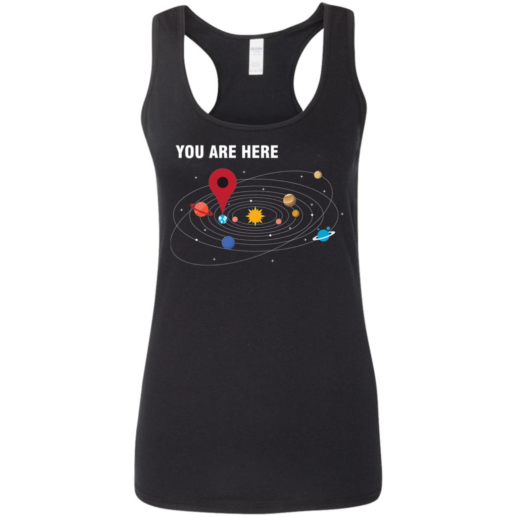 You Are Here. Woman's Science and Astronomy Tank Top