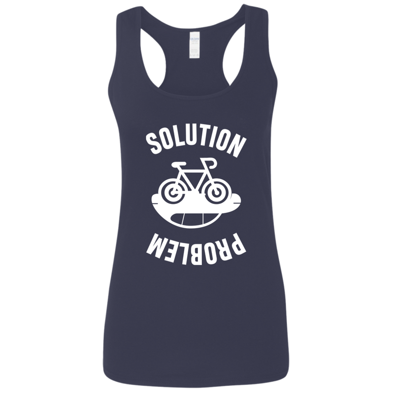 Problem and Solution. Environmental Awareness Woman's Racerback Tank Top