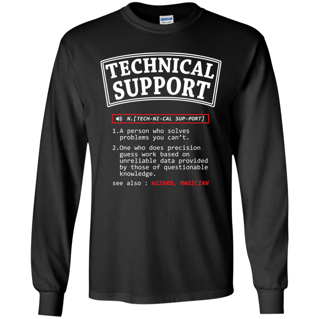 Technical Support. Science and Math Long Sleeve T-Shirt