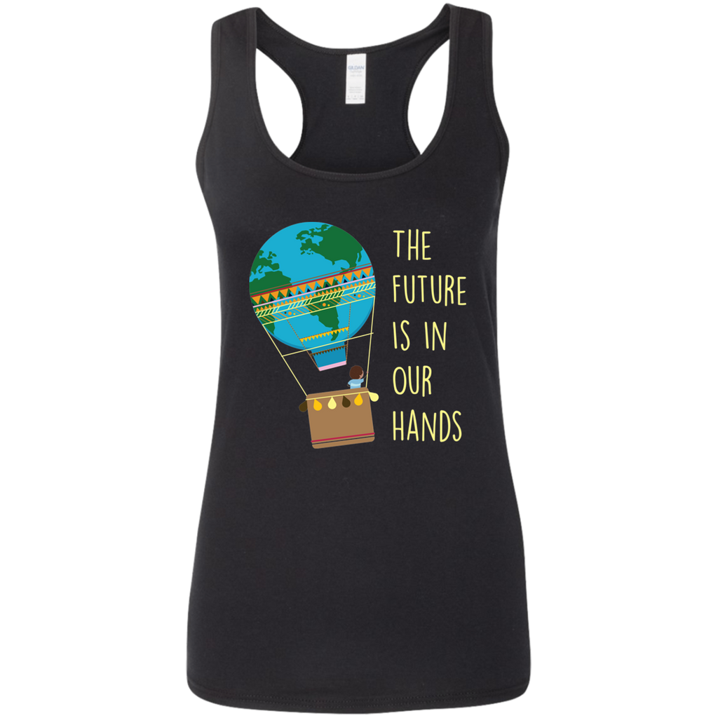The Future Is In Our Hands. Environmental Awareness Woman's Tank Top