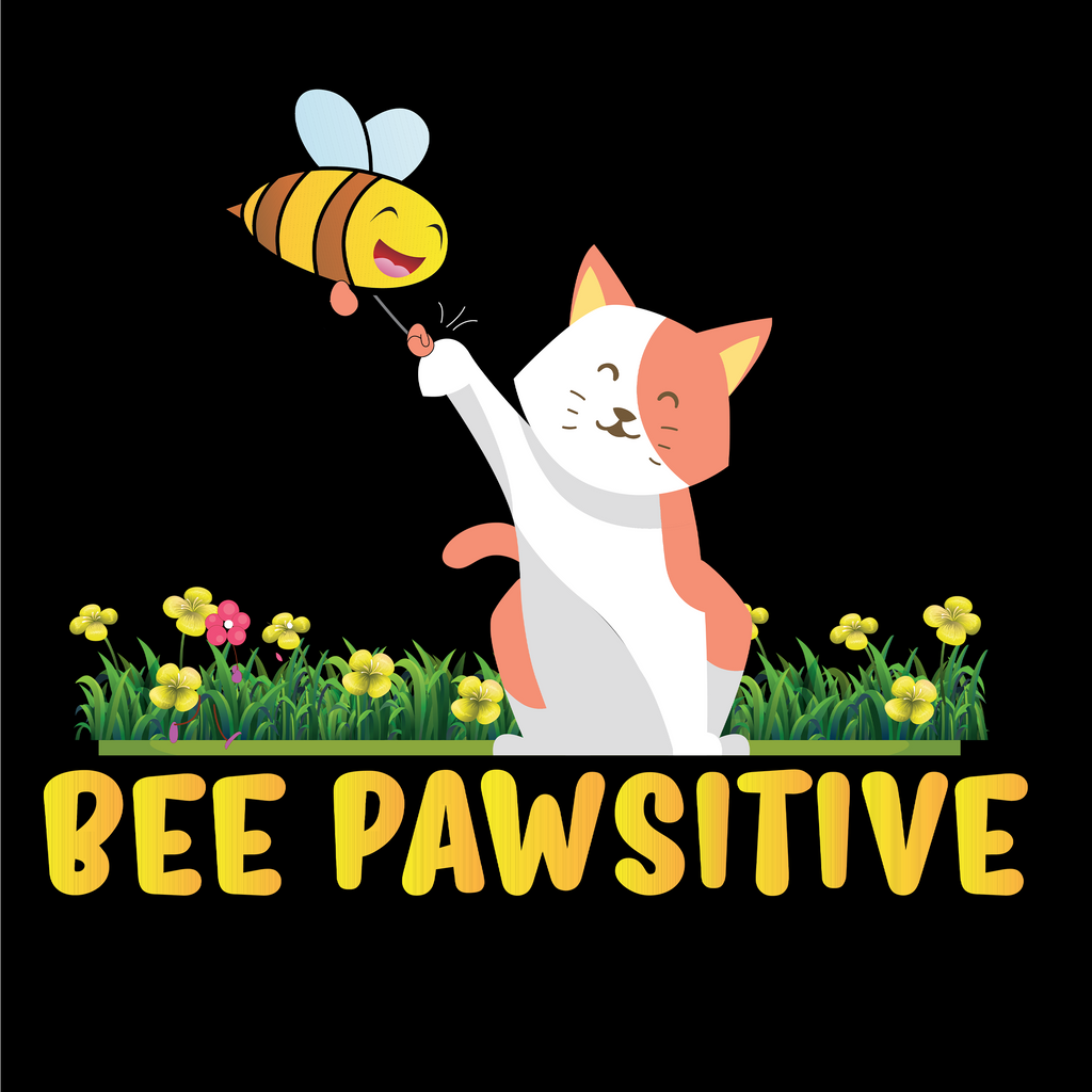 Bee Pawsitive. Environmental Awareness T-Shirt