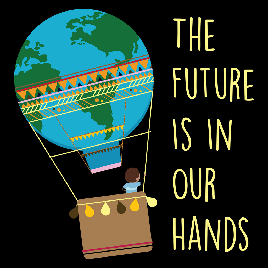 The Future Is In Our Hands. Environmental Awareness T-Shirt