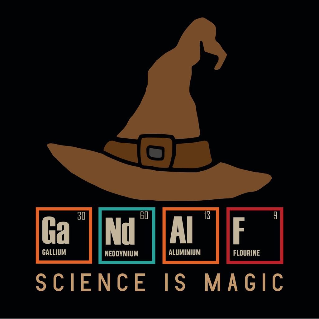 Science Is Magic. GaNdAlF. Periodic Table Science Long Sleeve T-Shirt