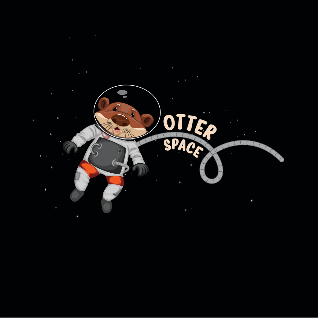 Otter Space. Science and Space Hat. Otter Astronaut