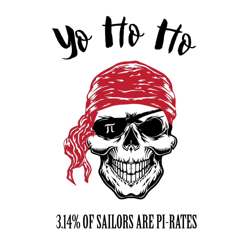 Yo Ho Ho. 3.14% Of Sailors Are Pirates. Woman's Math Tank Top