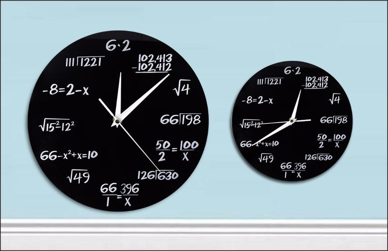 What Time Is it? Ask The Math Whiz. Clever Wall Clock.
