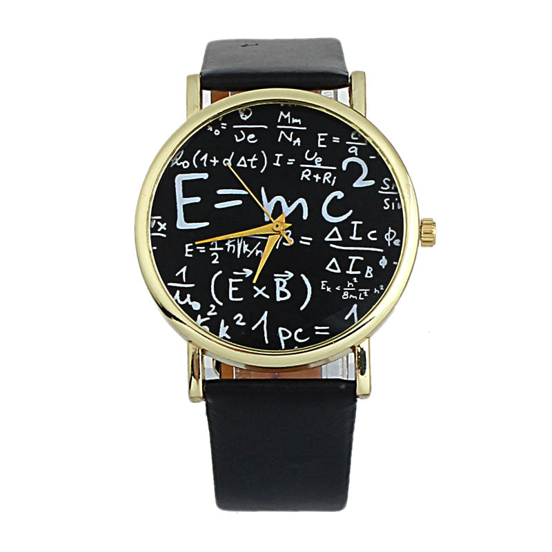 Show Your Love For Science Fashion Watch. E=MC Squared Einstein's Famous Equation