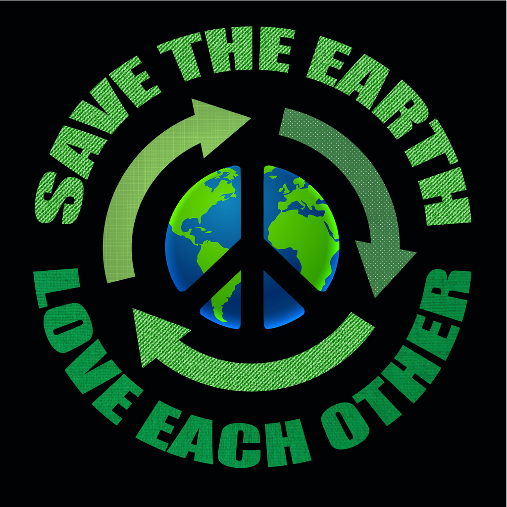 Save The Earth, Love Each Other. Environmental Awareness Long Sleeve T-Shirt