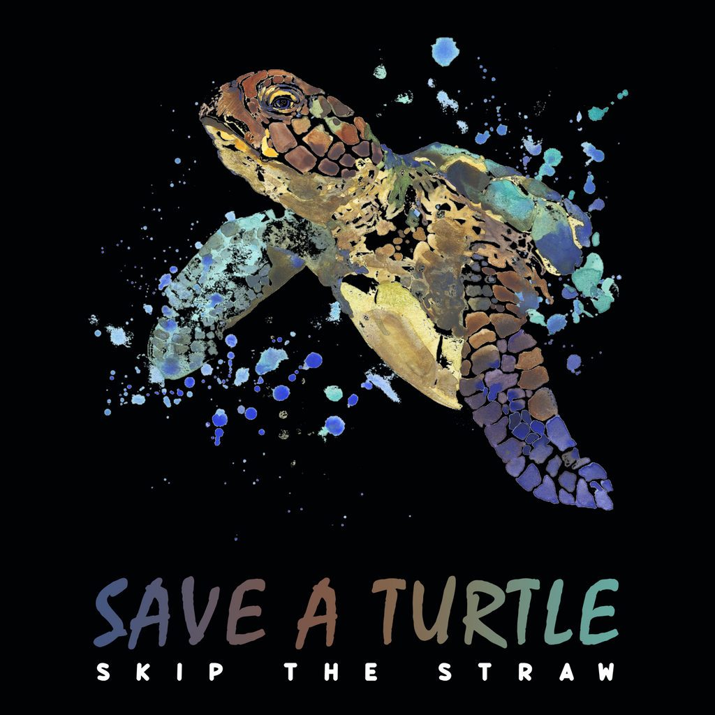 Save A Turtle. Skip The Straw. Woman's Environmental Awareness Tank Top
