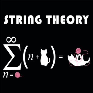 String Theory. Math and Science Long Sleeve Tee For Cat-Lovers