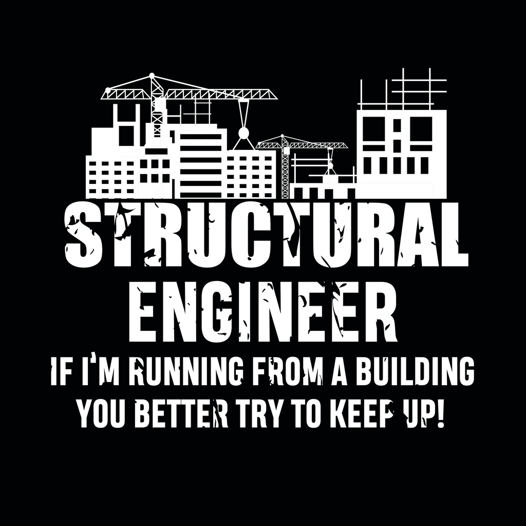 Structural Engineer. If I Am Running From A Building, You Better Try To Keep Up. Science and Math Hoodie