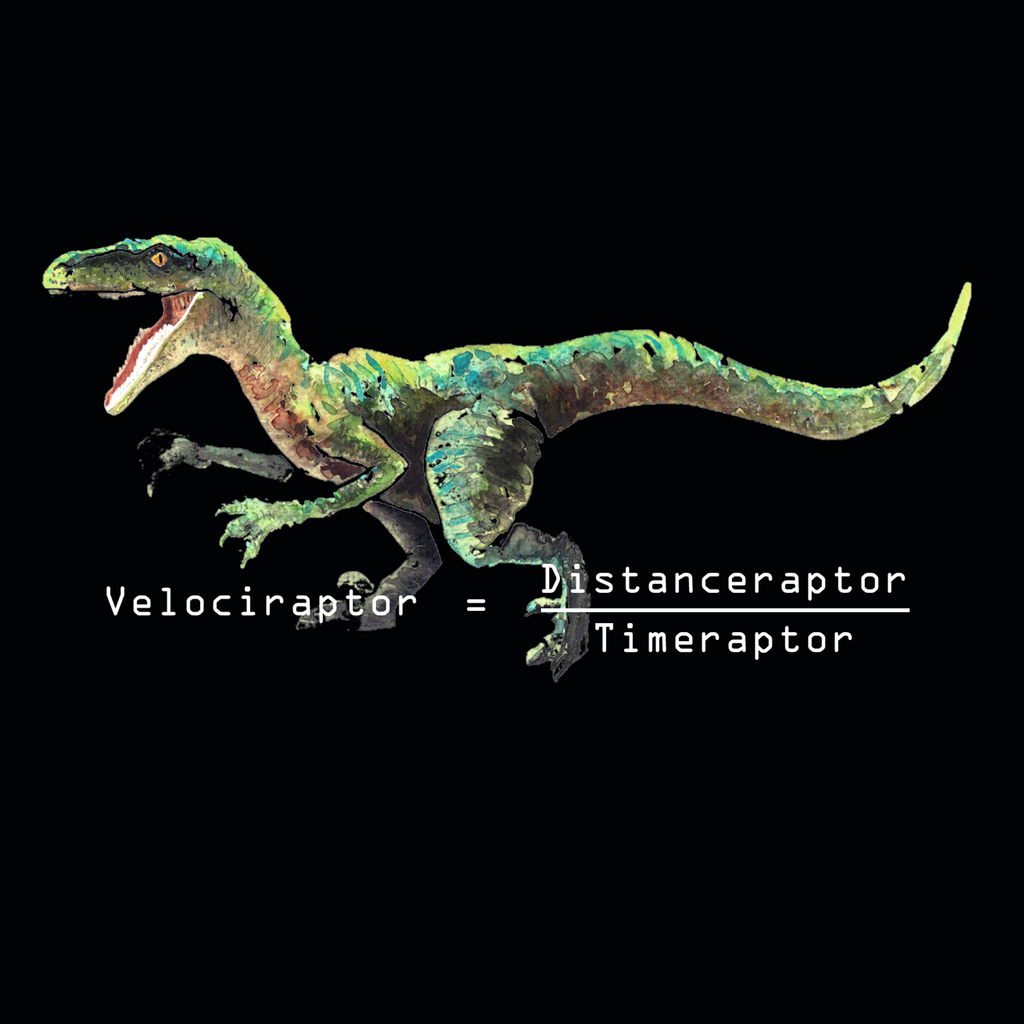 Velociraptor. Distanceraptor Divided By Timeraptor. Youth Science T-Shirt