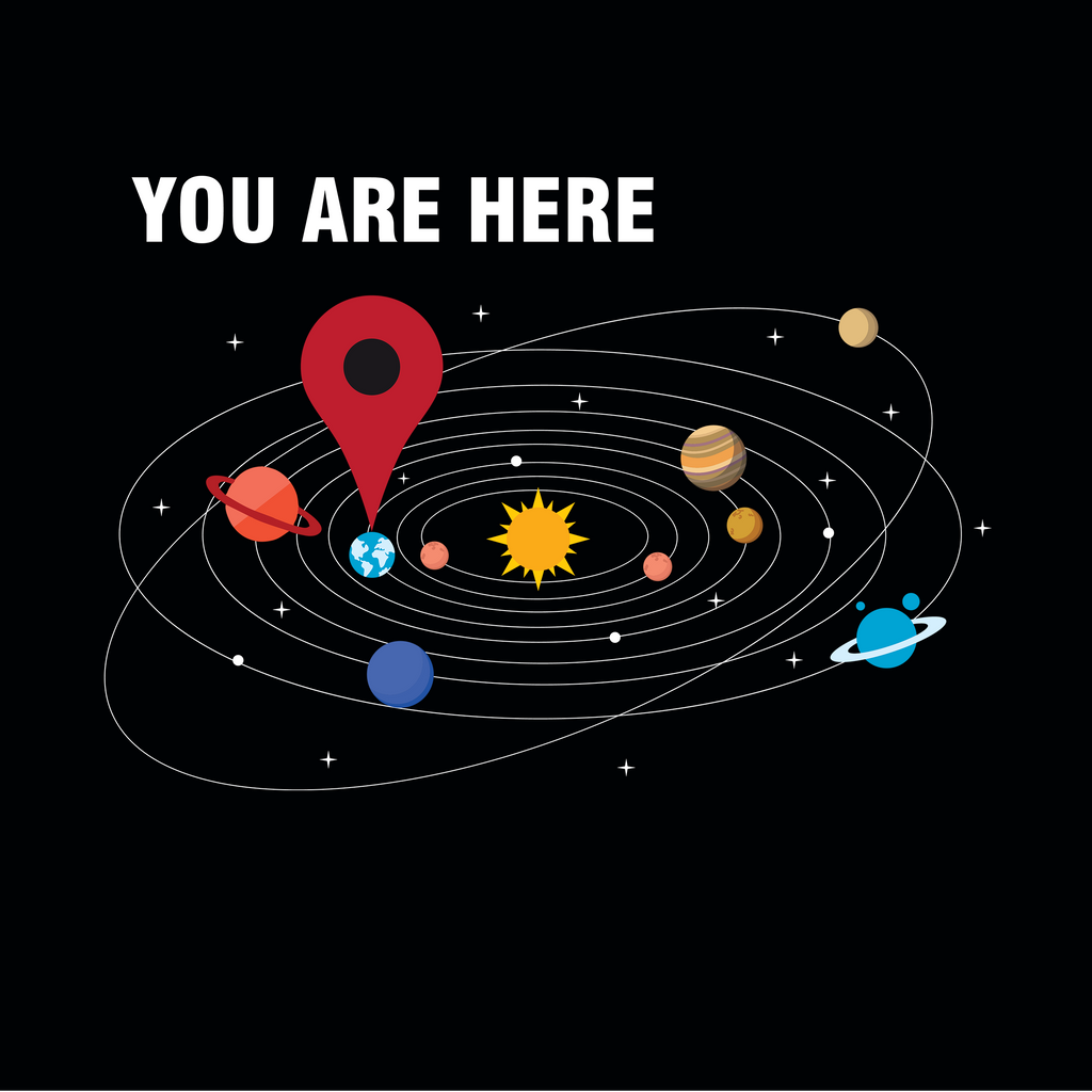You Are Here. Astronomy Science T-Shirt