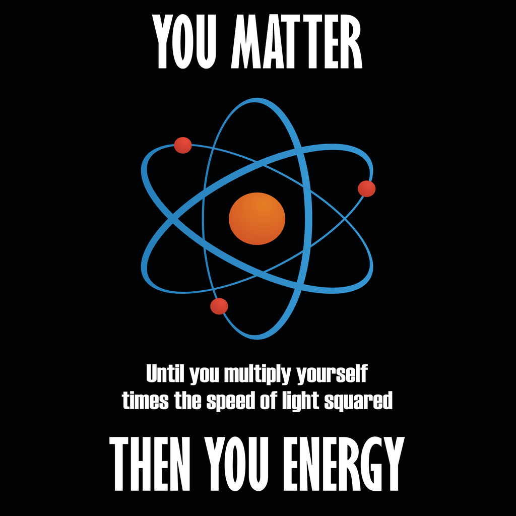 You Matter! Until You Multiply Yourself Times The Speed Of Light Square. Woman's Math Tank Top