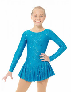 MD666/18 Blue Peony Shimmery Dress
