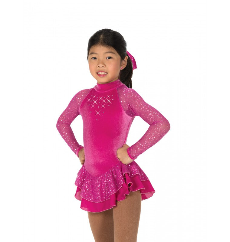 J10/17 Fuchsia Starshine Dress - Child 6-8