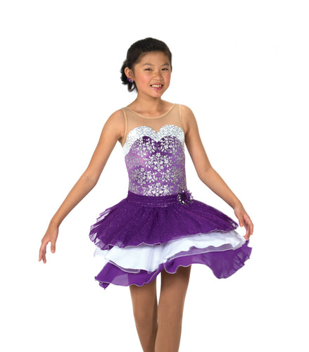 J120/17 Dancing Violet Dress - Child 10-12
