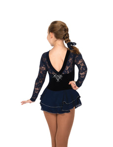 J012/19 Ooh La Lace Dress Navy Blue