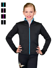 Load image into Gallery viewer, J48 ChloeNoel Coloured Zipper Fitted Polar Fleece Jacket - Fuchsia