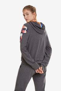 Desigual Camo Flower Hooded Sweatshirt