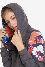 Load image into Gallery viewer, Desigual Camo Flower Hooded Sweatshirt