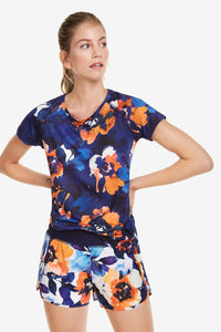 Desigual Technical Camo Flower T-shirt