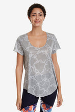 Load image into Gallery viewer, Desigual Perforated Camo Flower T-shirt