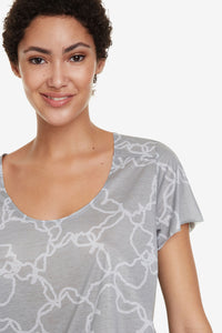 Desigual Perforated Camo Flower T-shirt