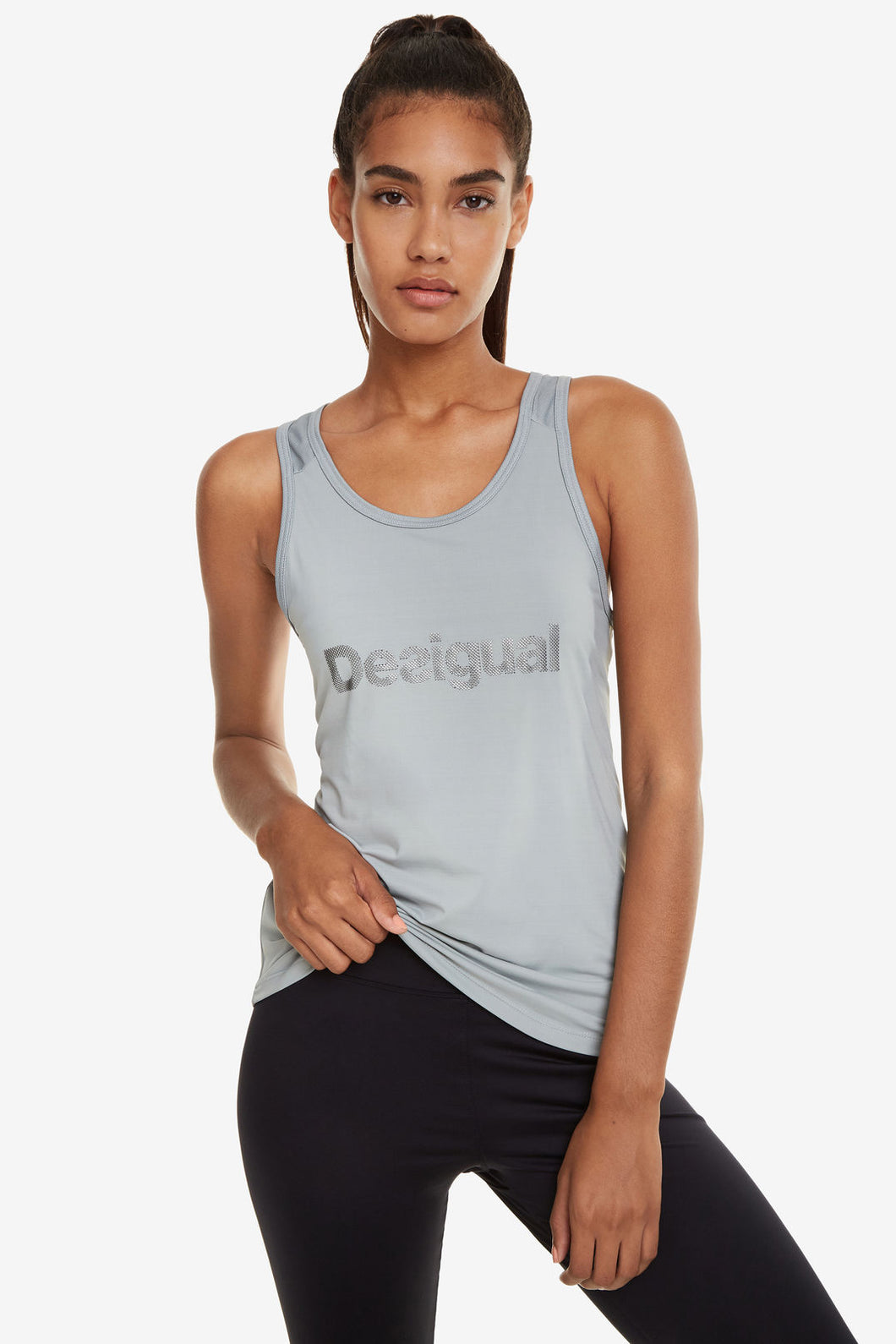 Desigual Floaty Grey Top